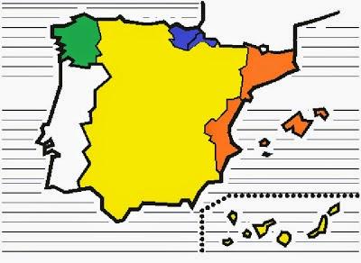 mapa lenguas cooficiales españa