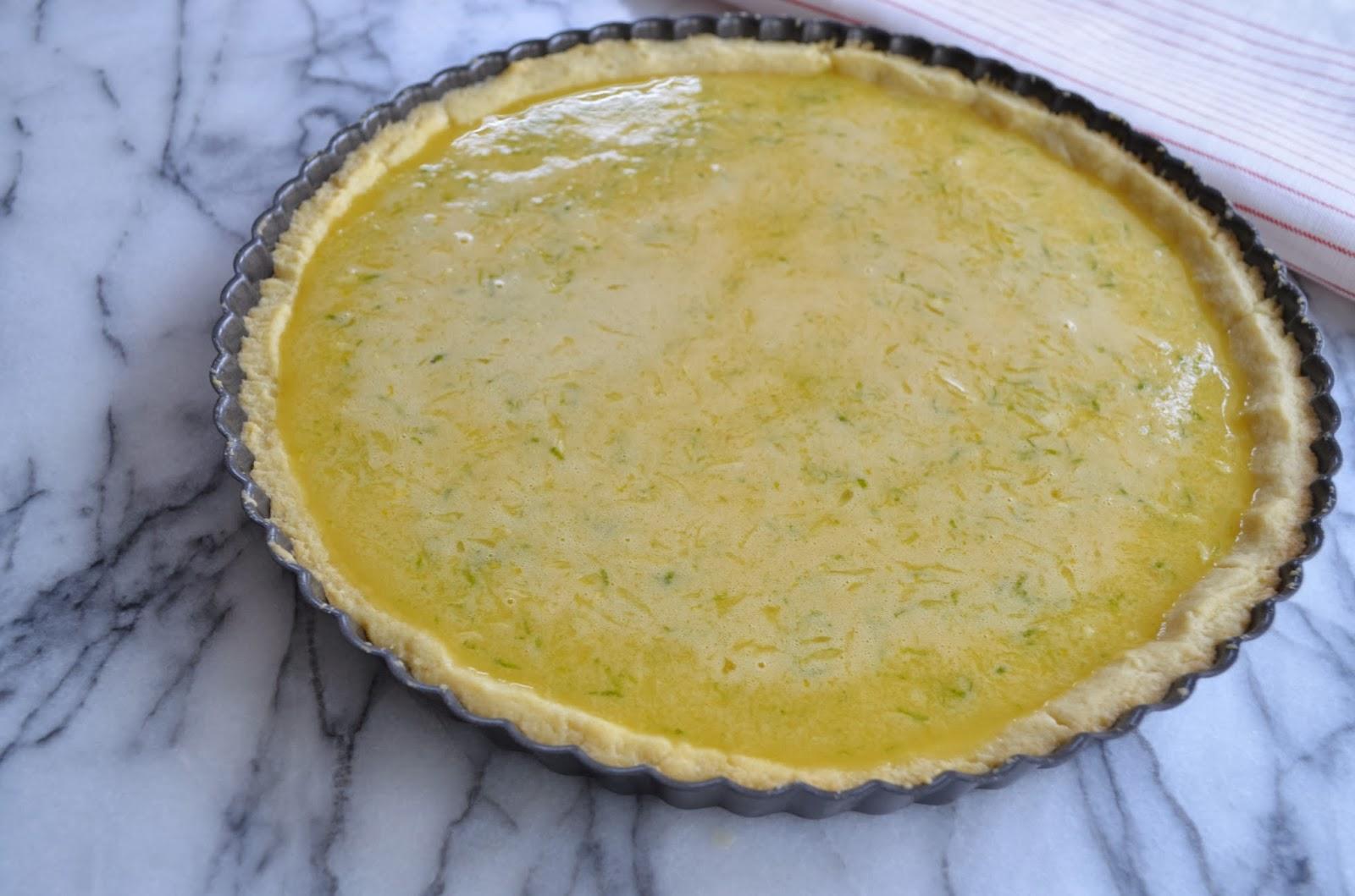 Key lime tart before baking