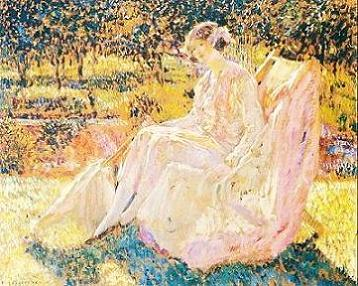 Ladies in the Garden by Frederick Frieseke