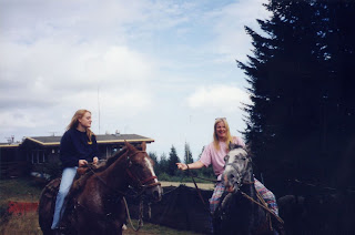 on two horses in Courtenay, B.C.