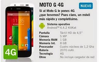 Motorola Moto G 4G con YOIGO: precio y características