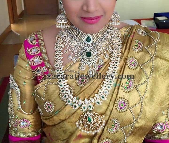 Bride in Diamond Mango Mala