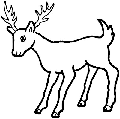 animal deer coloring sheet for kids - Kids Drawing Sheet