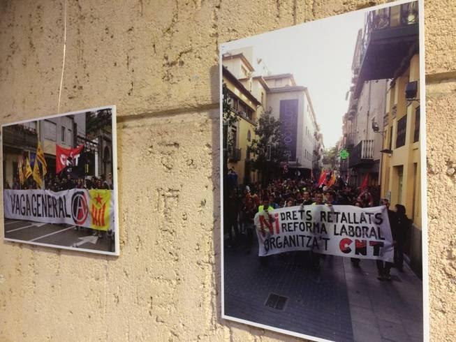 """Exposició """"20 anys de CNT a Olot"""" del 3 al 27 de maig"""