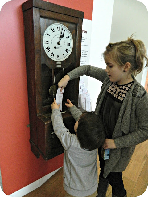 Children playing People's History Museum Manchester Factory Machine