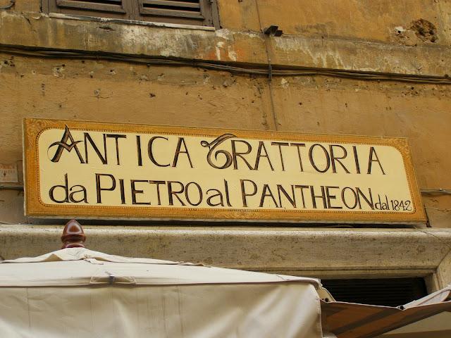 restaurante antigo de Roma