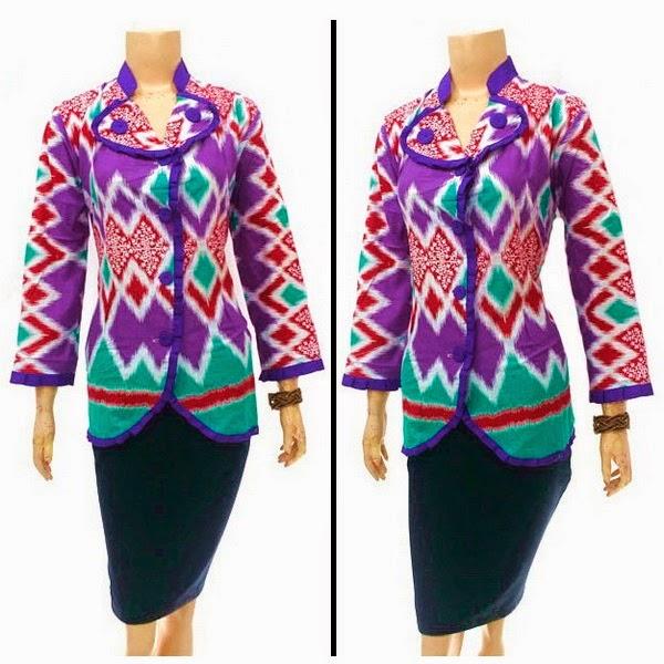 Baju batik motif rang rang warna ungu