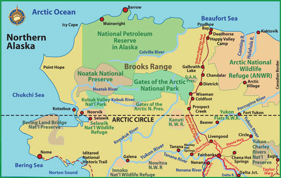 Maps of Alaska Roads By Bearfoot Guides: Map Of The Brooks Range And ...