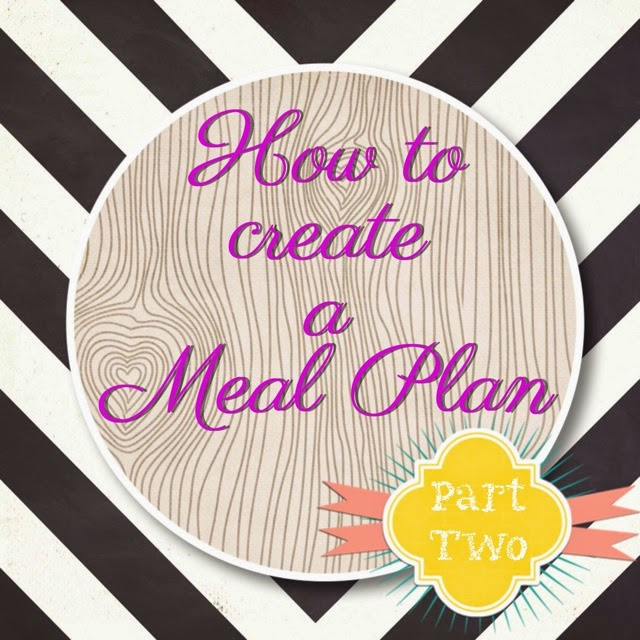 Steps on how to create a Monthly Meal Plan! Part Two. The Graffitied Gardenia