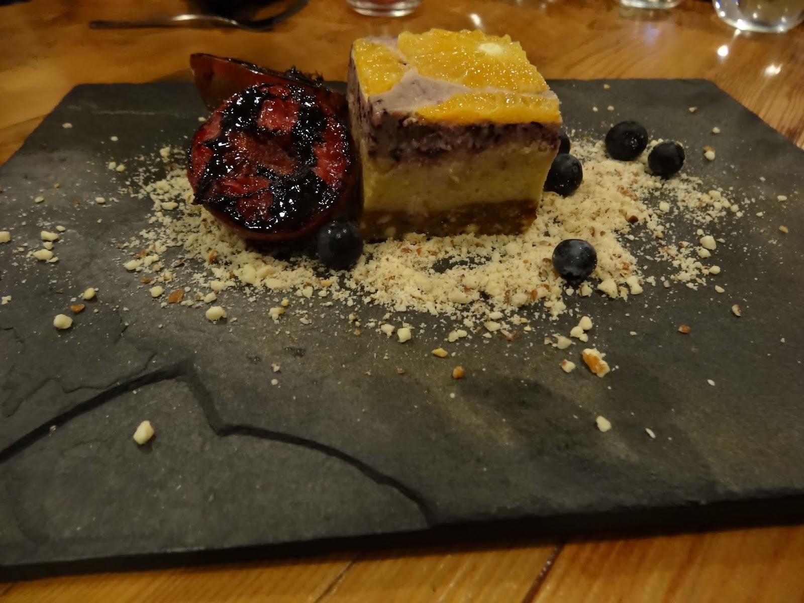 entropy, adelaide, food, thebarton, charbar, fridays, cheesecake, vegan, orange, blueberries
