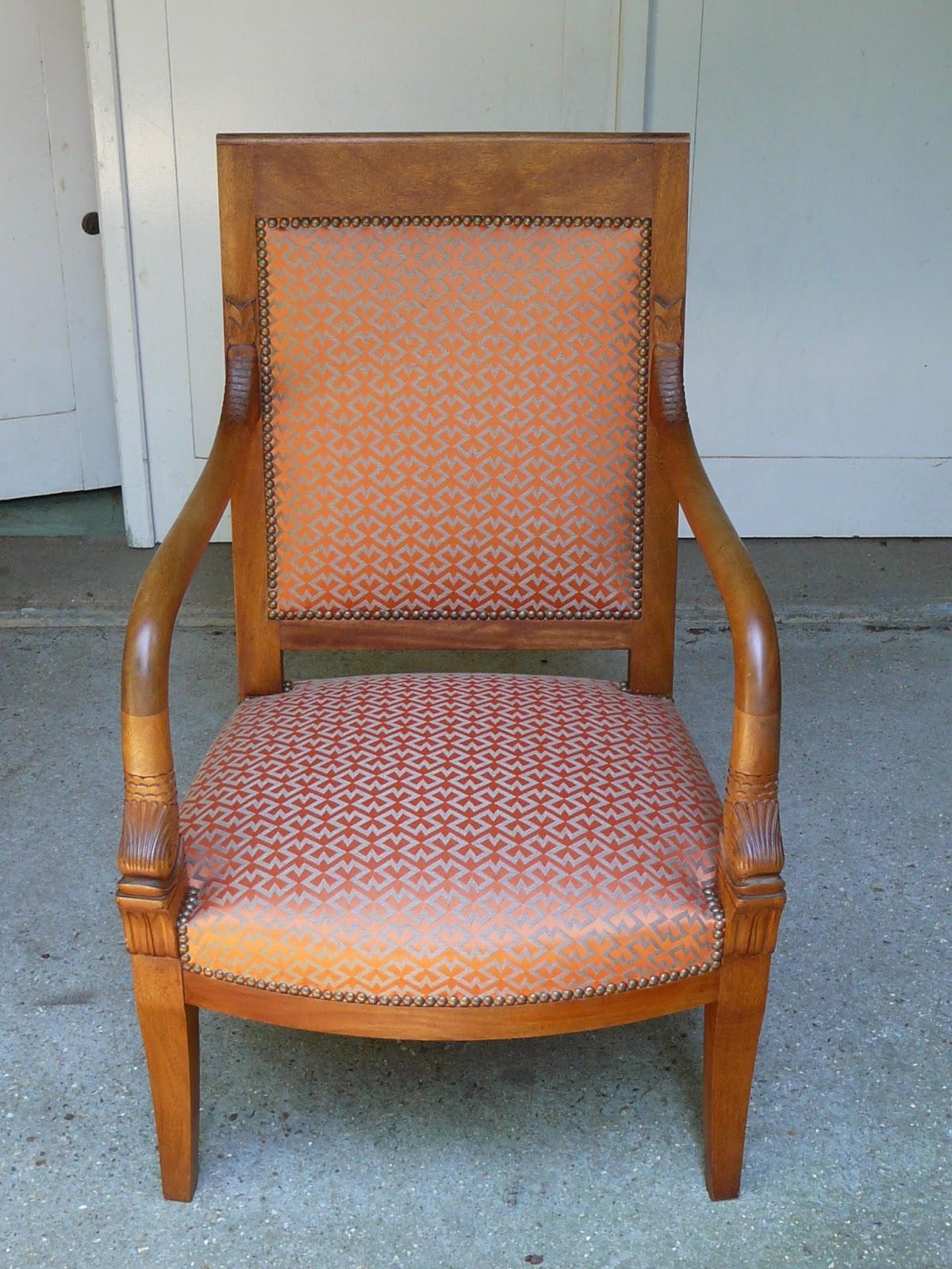 Le siege dans tous ses etats fauteuil de style restauration - Cours de restauration de fauteuil ...