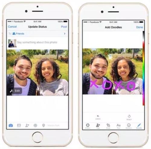 Facebook doodle apps for photos