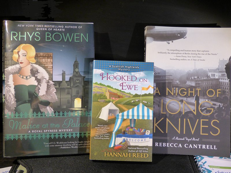 At the poisoned pen with rhys bowen kittling books my latest poisoned pen book haul fandeluxe Image collections