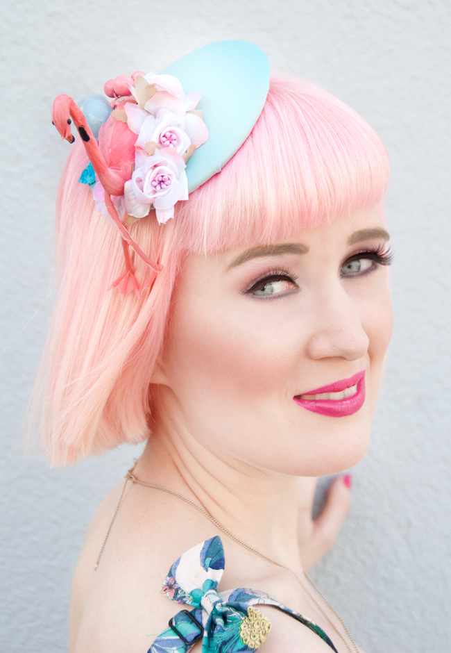Jazzafine, Flamingo fascinator, quirky headwear