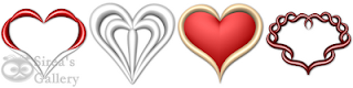 3D heart icons