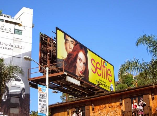 Selfie sitcom billboard