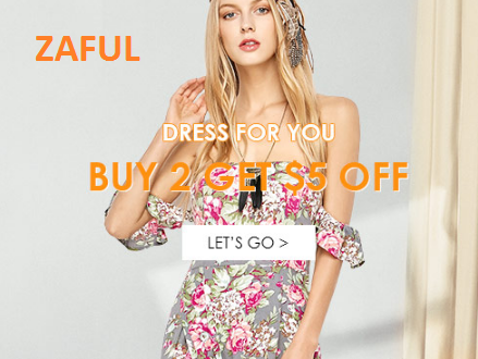 Zaful Lace Chiffon Dress Promotion