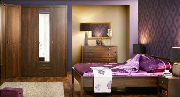 10 id es vibrantes de chambre pourpre. Black Bedroom Furniture Sets. Home Design Ideas