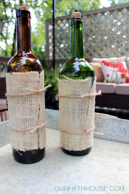 wine bottle oil lanterns