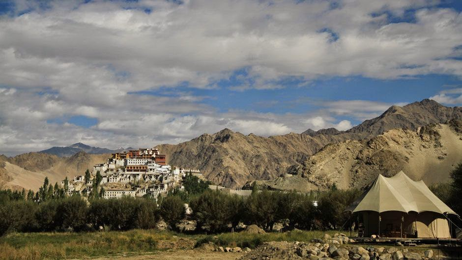 The Ultimate Travelling Camp, Thiksey, Ladakh