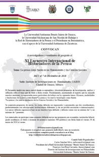 Cartel XI Encuentro Internacional de Historiadores de la Prensa
