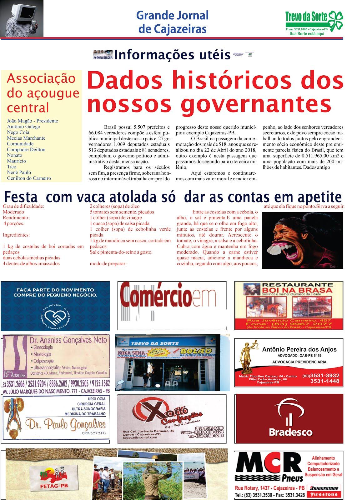 UMA  DAS PAGINAS  DO GRANDE JORNAL DO ESTADO PB