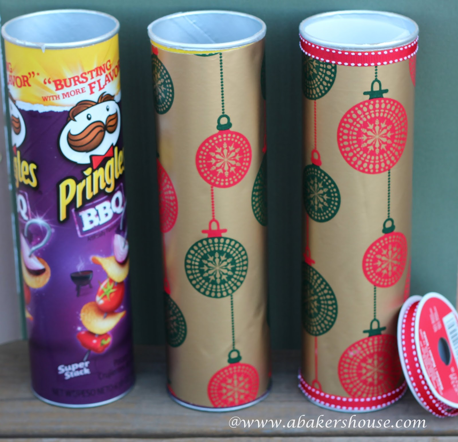 Pringles cans used as packaging for cookies