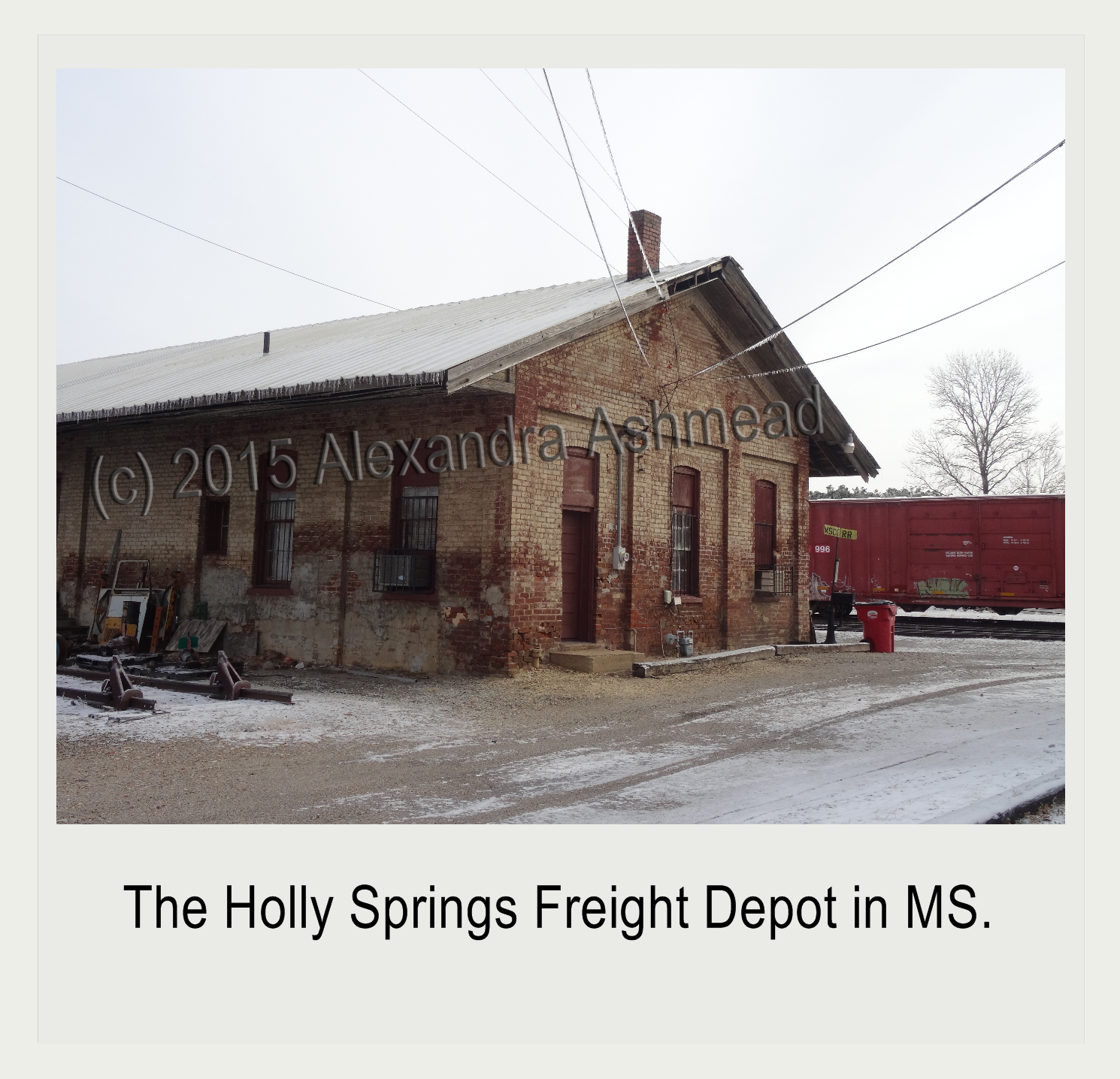 Holly Springs Freight Depot After a Snow Storm (c) 2015 Alexandra Ashmead