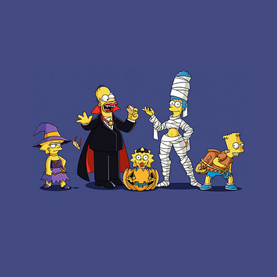 Cartoon The Simpsons, Halloween download free wallpapers for Apple iPad