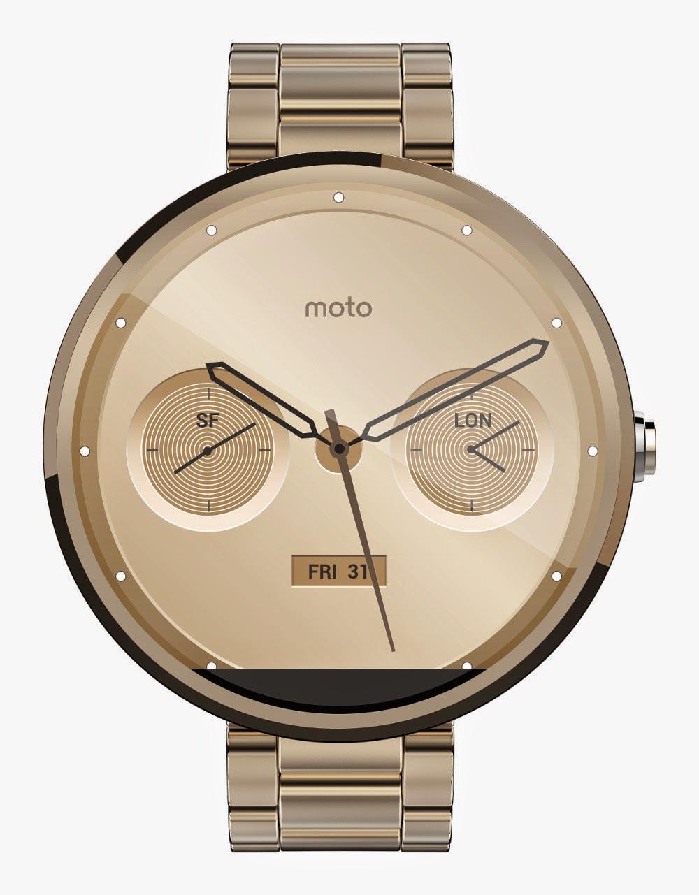 Motorola Moto 360 Metal Champagne front view