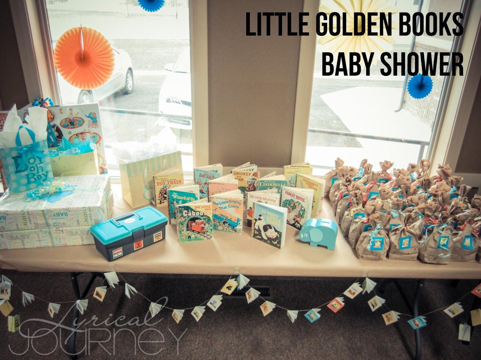 Pinterest Challenge - Little Gold Books Baby Shower