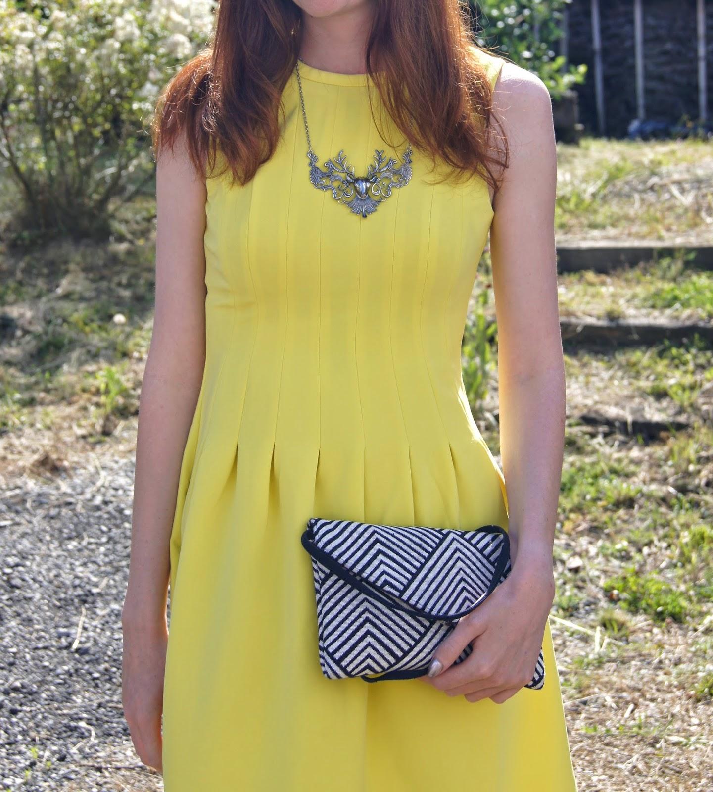look mariage robe jaune
