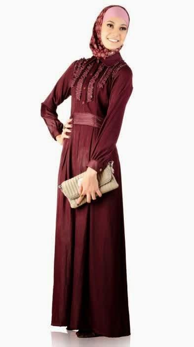 Contoh Model Baju Muslim Gamis Terbaru Model Baju Muslim