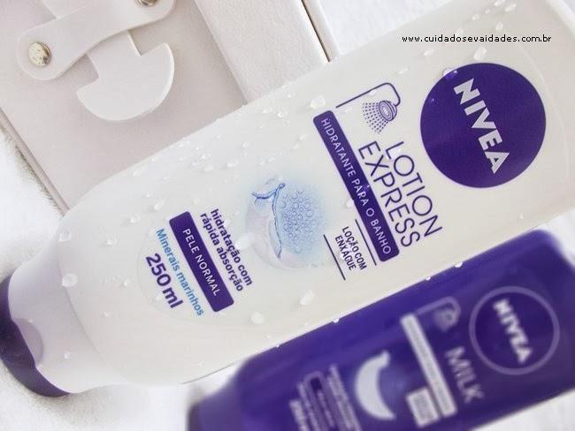 Hidratantes de Banho Milk e Lotion Express da Nivea