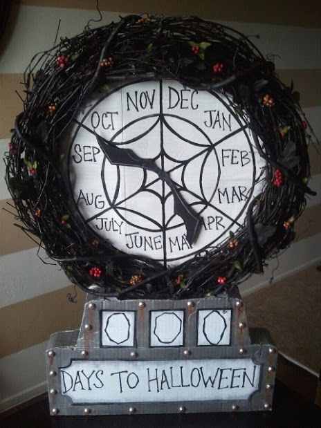 Nightmare Before Christmas Halloween Props: Halloween Count Down Clock ...