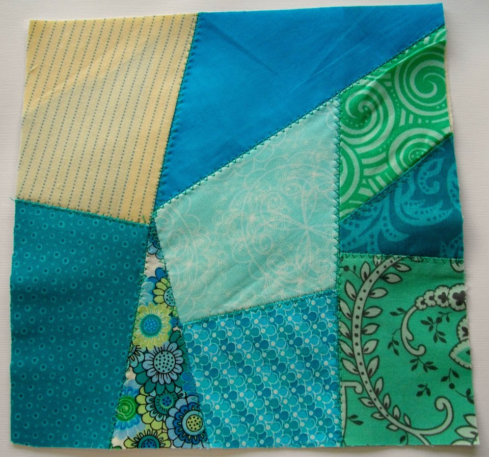 andie johnson sews: Quick Scrappy Crazy Quilt Block Tutorial