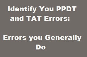 What are the general errors made in PPDT and TAT in SSB