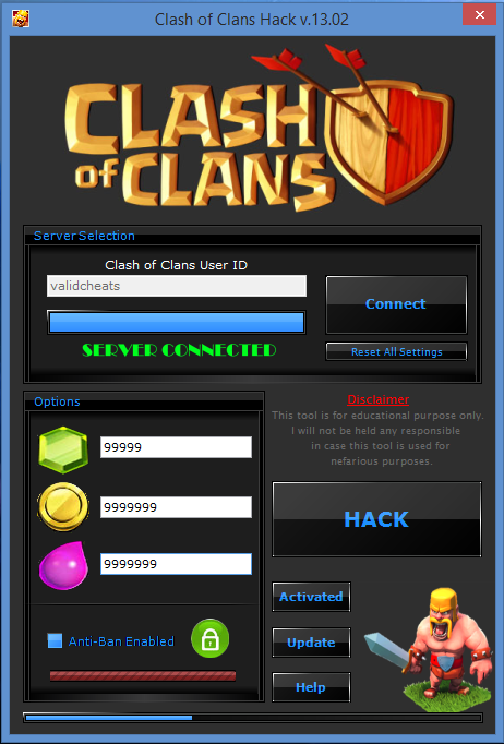 Clash of clans hack no activation code needed