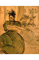 ISIDRE NONELL Mujer leyendo el periódico en un parque 1897