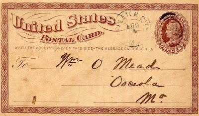 Post card 1875
