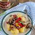 Sałatka z ziemniakami i pieczonymi warzywami