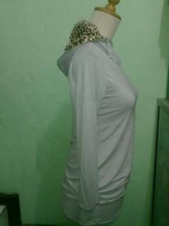 Pakaian Model Hoodie motif leopard