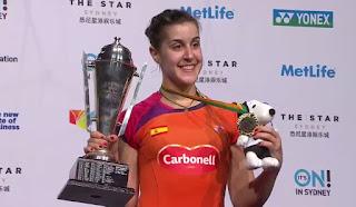BADMINTON - Carolina Marín se alzó con el título en el Abierto de Australia y suma su tercer corona del año