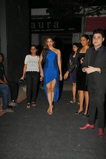 Actress Kiara Advani Pictures in Blue Dress at Fabula Rasa Show Room Launch  11.JPG
