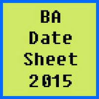 University of Sargodha UOS BA Date Sheet 2016