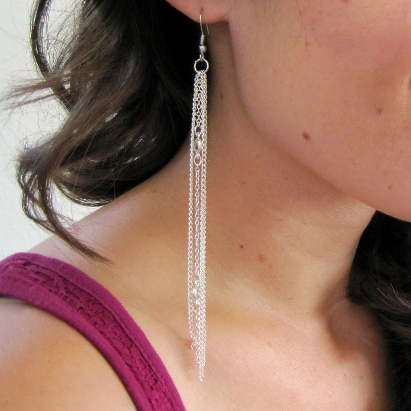 DIY Chain Earrings | She's Got the Notion