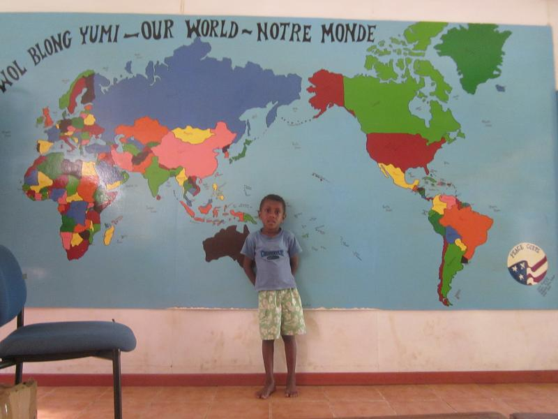 Under the mango tree trip to ifira island inside the library there is a big world map on one wall this is a common project for peace corps volunteers around the world students enjoy making the gumiabroncs Images
