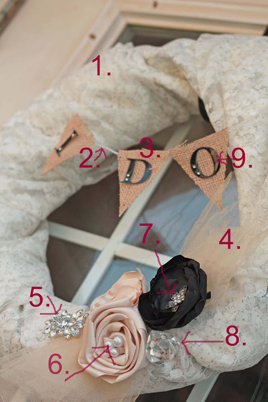 Amys Craft Bucket Burlap And Lace DIY Wedding Wreaths