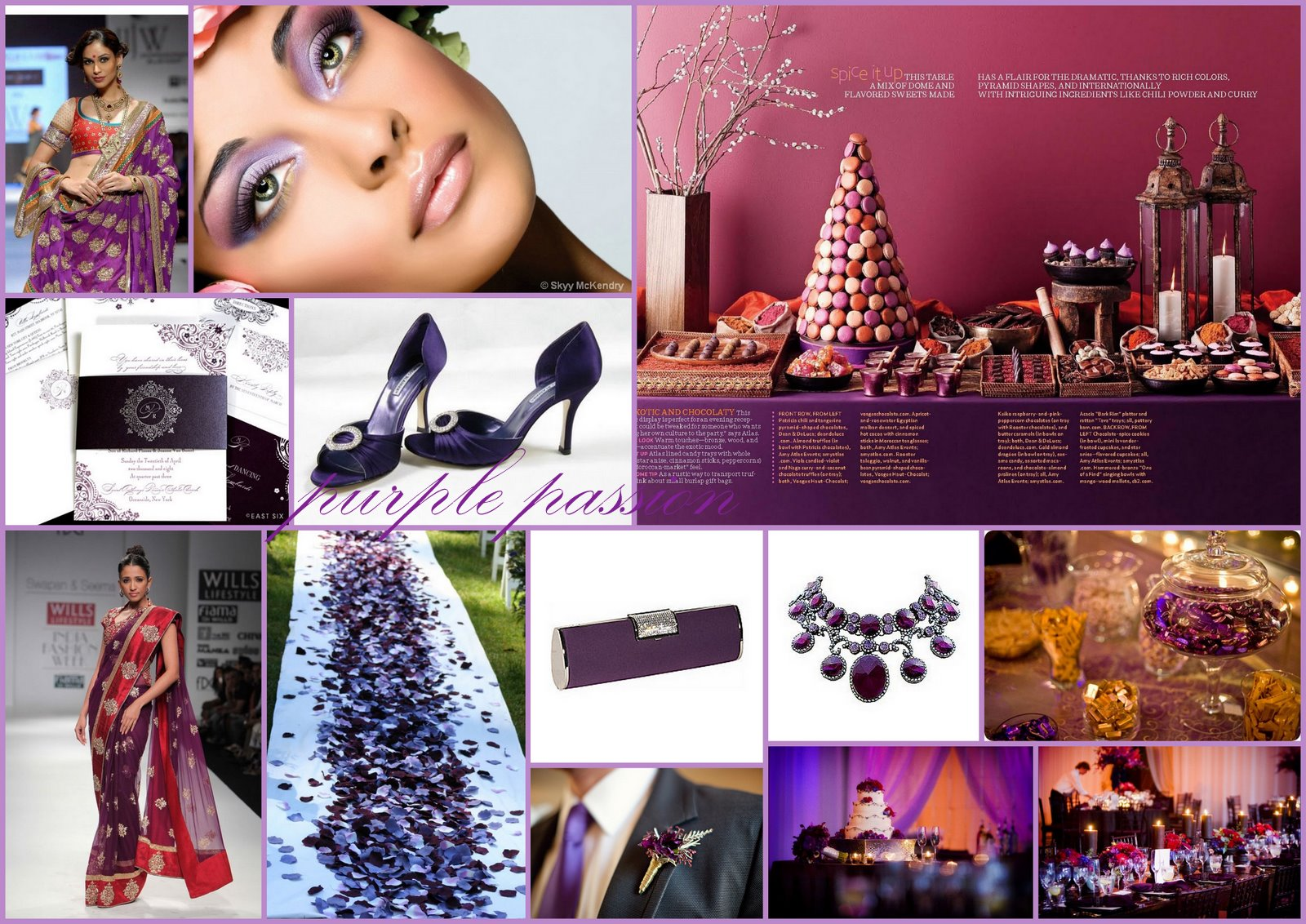 Inspiration Boards} BWB Colours Of The Rainbow - Purple - Asian ...