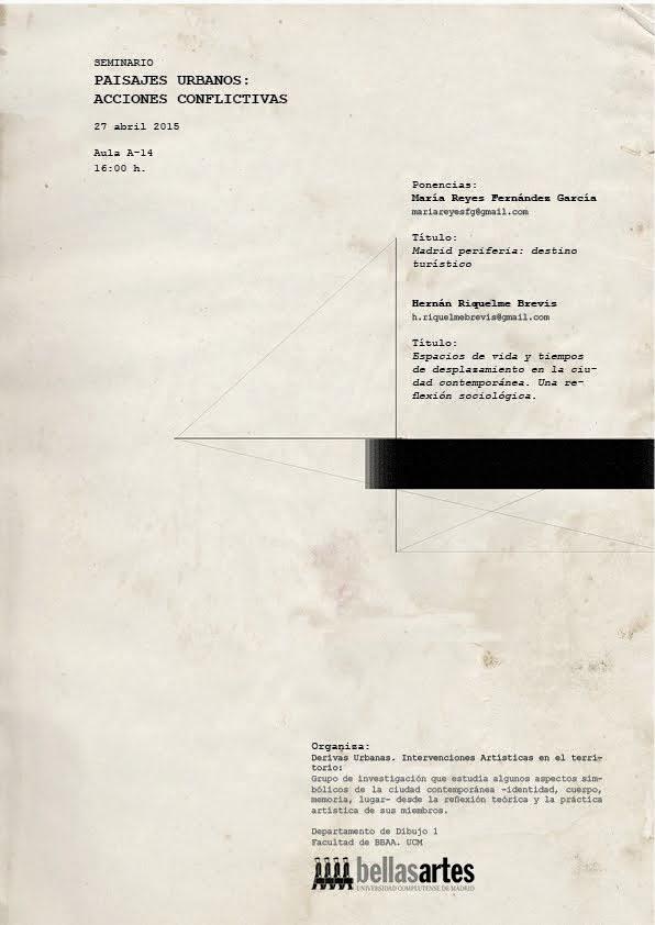 SEMINARIO PAISAJES URBANOS:  ACCIONES CONFLICTIVAS